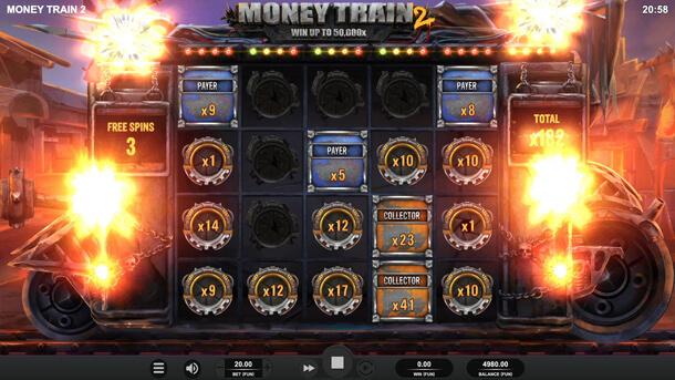 Bonusová hra Money Cart - Výherní automat Money Train 2 (Relax Gaming)
