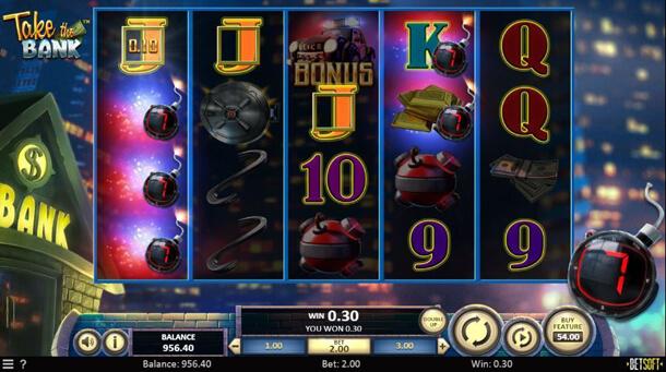 Gameplay - Výherní automat Take the Bank od Betsoftu
