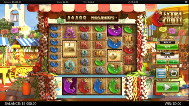 Gameplay - Výherní automat Bonanza 2: Extra Chilli (Big Time Gaming)