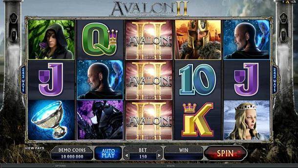 Gameplay - Výherní automat Avalon II (Microgaming)
