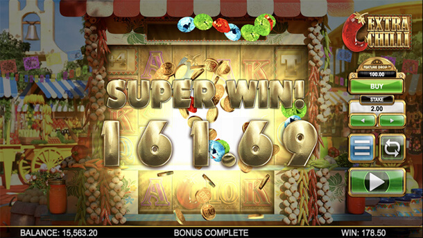Skvělá výhra - Výherní automat Bonanza 2: Extra Chilli (Big Time Gaming)