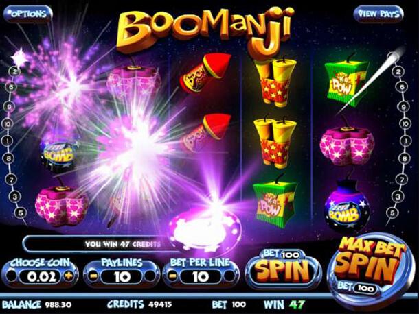 Výhra v automatu Boomanji (Betsoft)