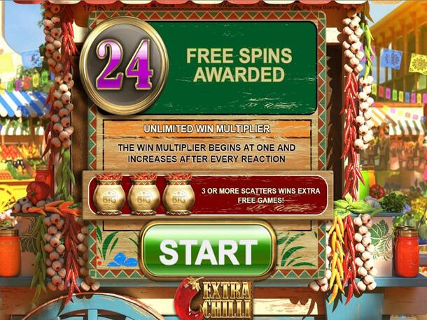 Výhra ve Free Spins Gamble - Výherní automat Bonanza 2: Extra Chilli (Big Time Gaming)