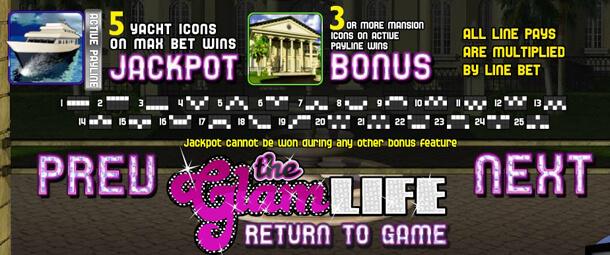 The Glam Life Slot - výplatní tabulka dnes