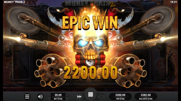 Krásná výhra - animace - Výherní automat Money Train 2 (Relax Gaming)